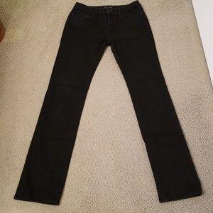 Elit Tahari Adena Straight Jean in Black - Size 27